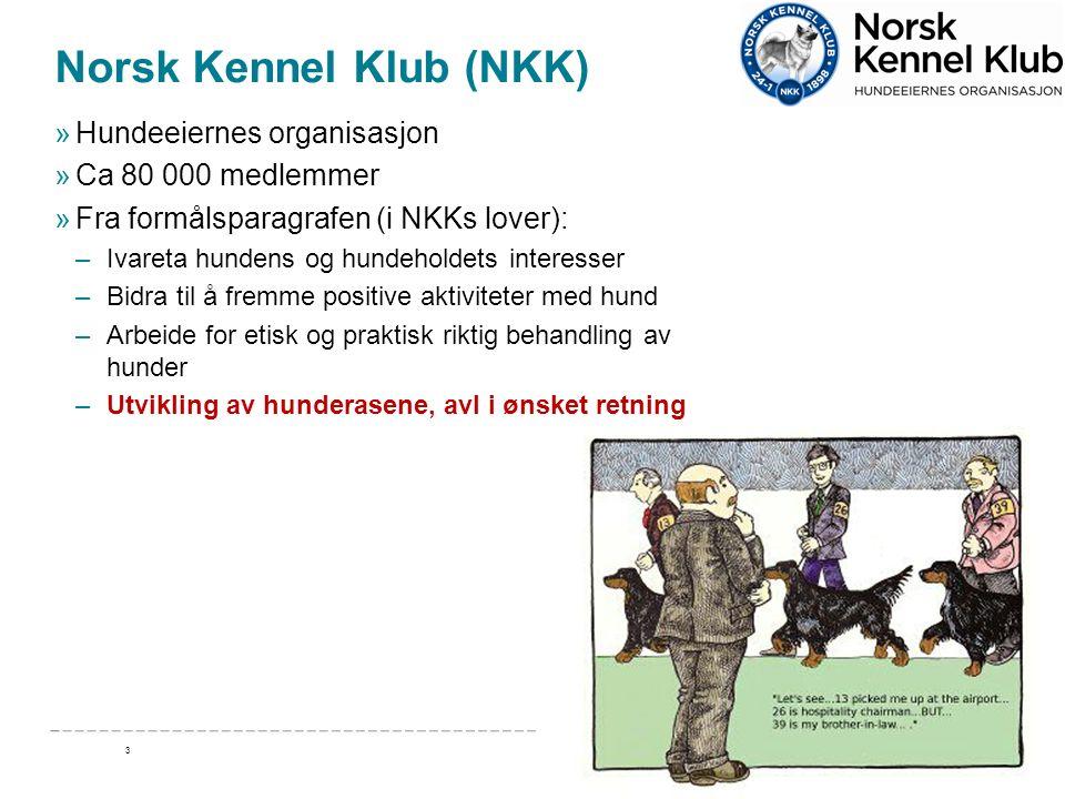 Norsk Kennel Klub (NKK) »Hundeeiernes organisasjon »Ca 80 000 medlemmer »Fra formålsparagrafen (i NKKs lover): –Ivareta hundens og hundeholdets intere
