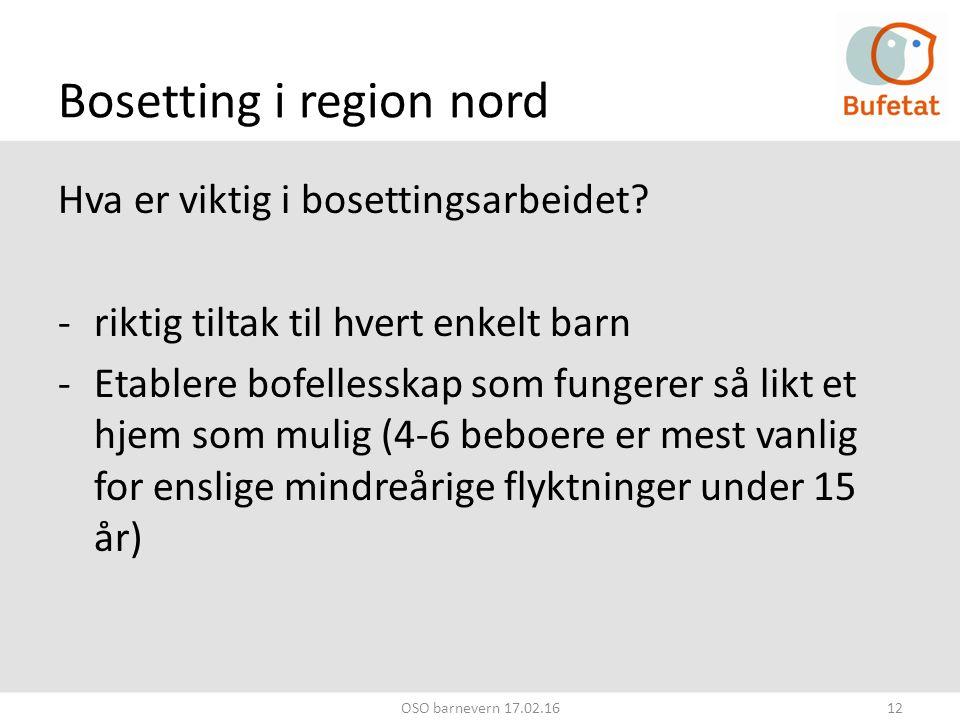 Bosetting i region nord Hva er viktig i bosettingsarbeidet.
