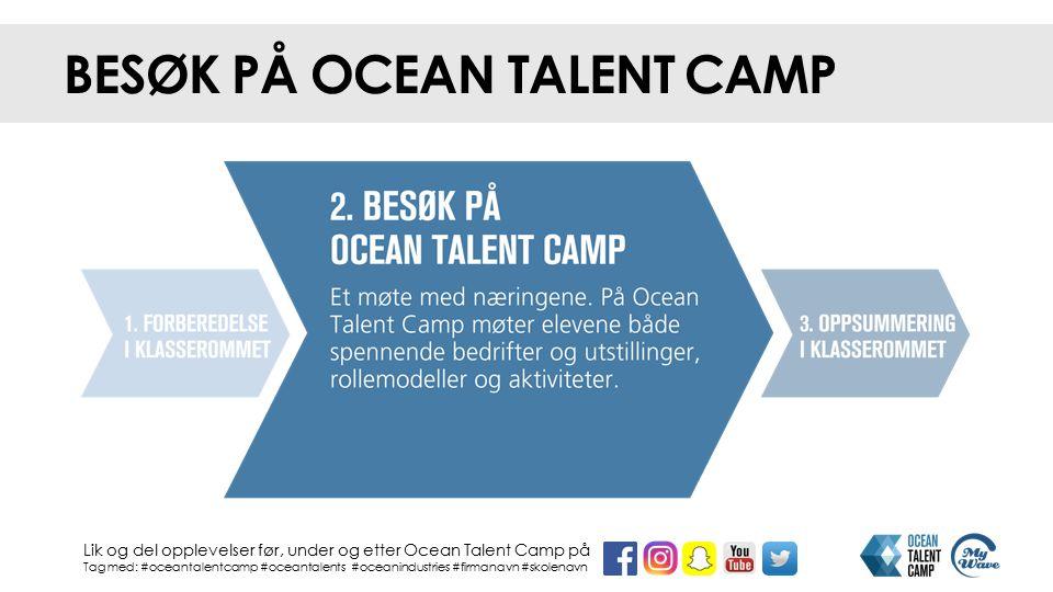 BESØK PÅ OCEAN TALENT CAMP Lik og del opplevelser før, under og etter Ocean Talent Camp på Tag med: #oceantalentcamp #oceantalents #oceanindustries #f