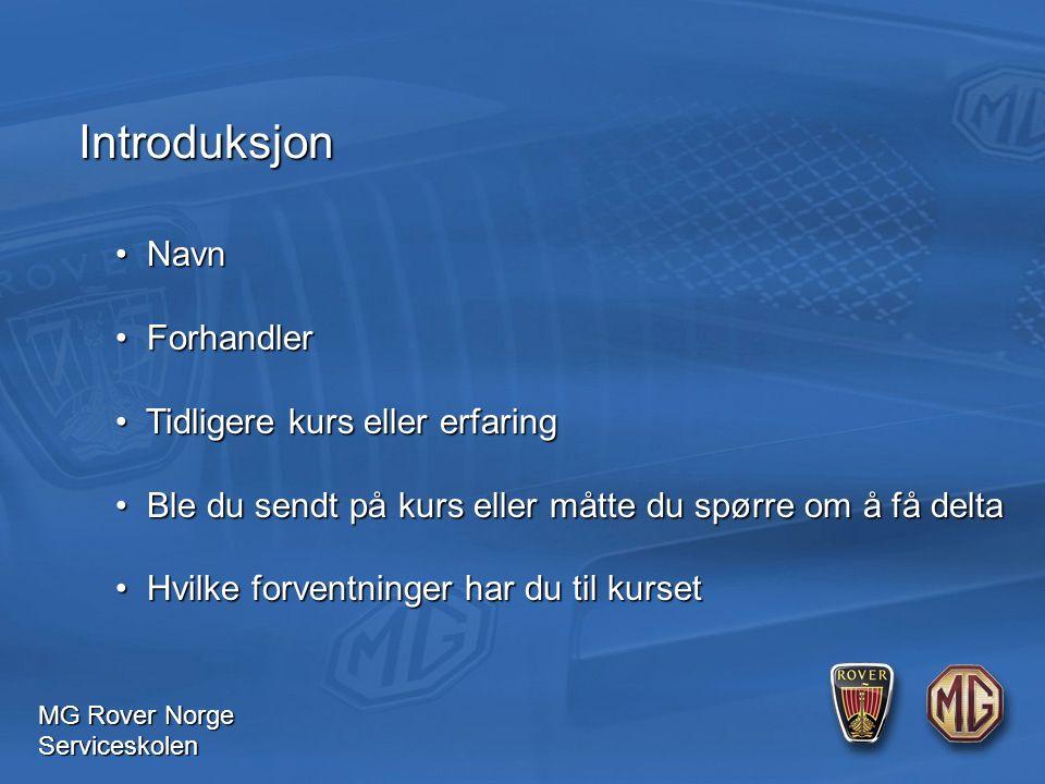 MG Rover Norge Serviceskolen Batteri Batteriets kapasitet Normalt angis batteriets kapasitet i amperetimer (Ah) ved 20 timers utlading.