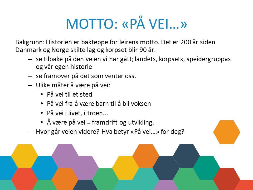 MOTTO: «PÅ VEI…» Bakgrunn: Historien er bakteppe for leirens motto.