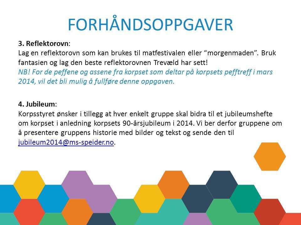 FORHÅNDSOPPGAVER 3.