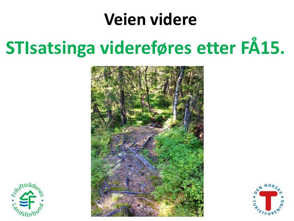 Veien videre STIsatsinga videreføres etter FÅ15.