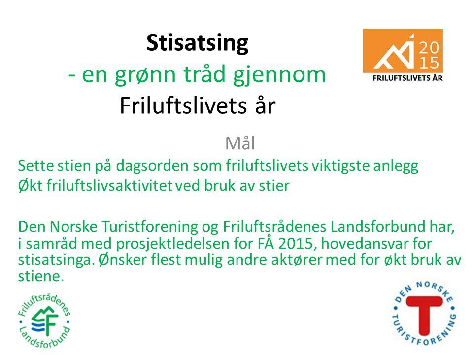 Stisatsing - en grønn tråd gjennom Friluftslivets år Vi nådde målene Gjennom STIkonferansen 17.-18.