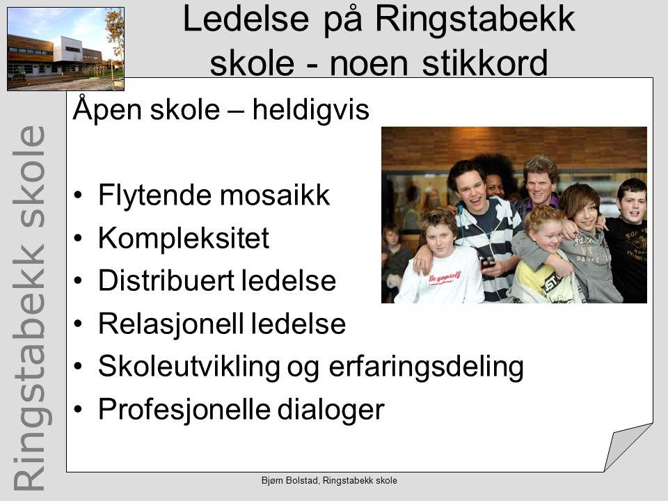 Ringstabekk skole Bjørn Bolstad, Ringstabekk skole Referanser Bolstad, B, m.