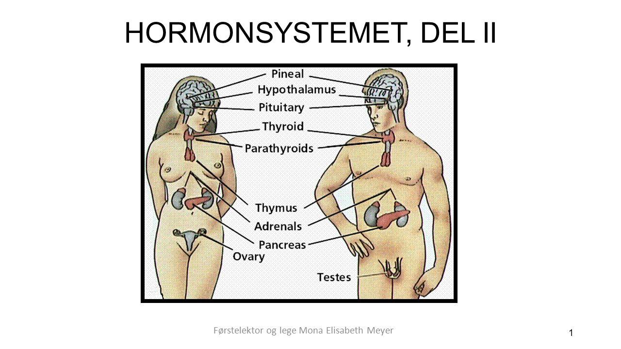 HORMONSYSTEMET, DEL II 1 Førstelektor og lege Mona Elisabeth Meyer