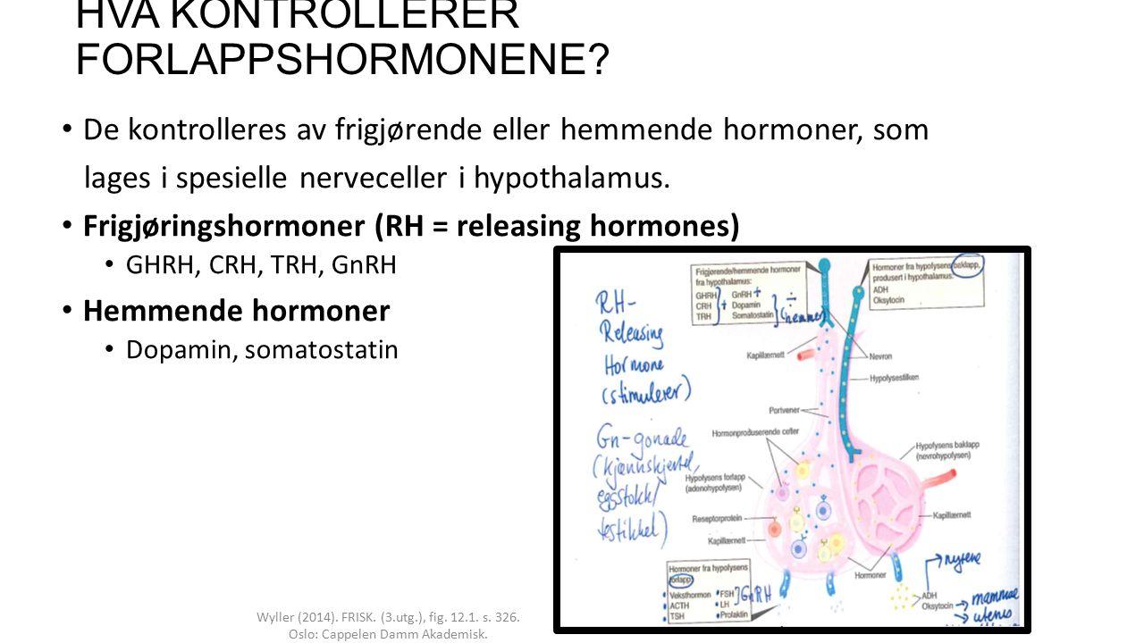 6 HYPOTHALMUS Sekresjon av både frigjøringshormoner og baklappshormoner er bestemt av aktiviteten i hypothalamus.