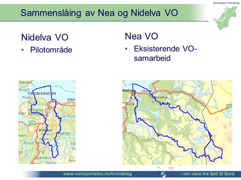 Sammenslåing av Nea og Nidelva VO ©Bendik Eithun Halgunset Nidelva VO Pilotområde Nea VO Eksisterende VO- samarbeid