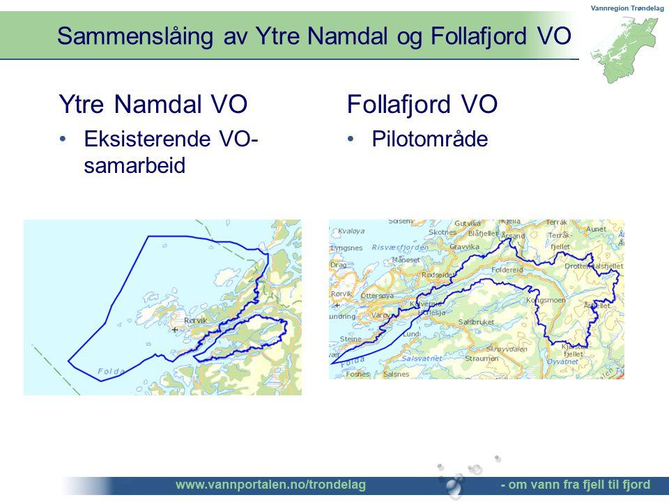 Sammenslåing av Ytre Namdal og Follafjord VO ©Bendik Eithun Halgunset Ytre Namdal VO Eksisterende VO- samarbeid Follafjord VO Pilotområde