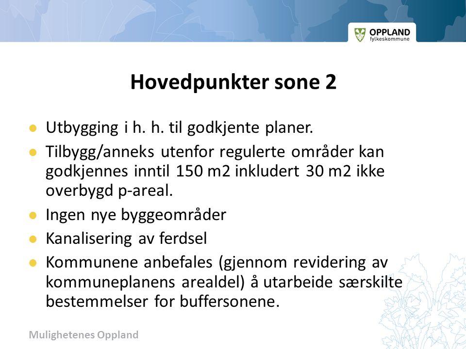Mulighetenes Oppland Hovedpunkter sone 2 Utbygging i h.