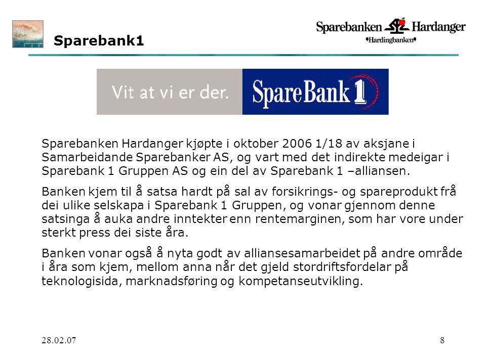 28.02.079 Innhald Sparebanken Hardanger i korte trekk Forretningsidés.