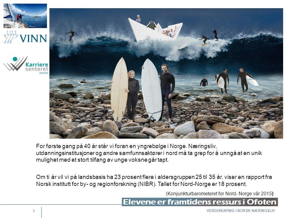 4 For første gang på 40 år står vi foran en yngrebølge i Norge. Næringsliv, utdanningsinstitusjoner og andre samfunnsaktører i nord må ta grep for å u
