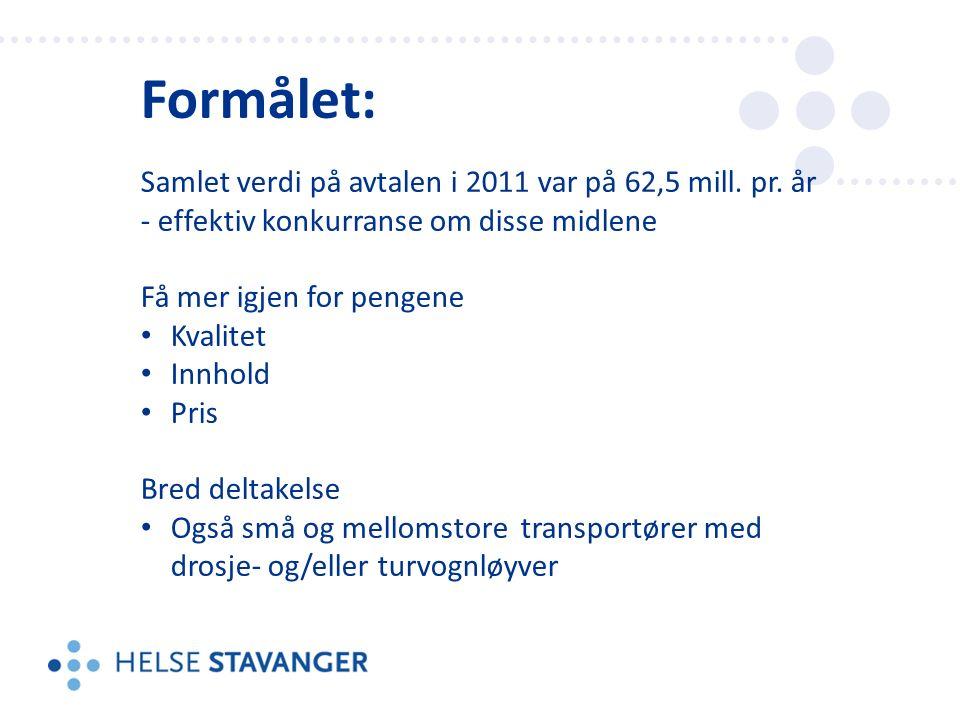 Formålet: Samlet verdi på avtalen i 2011 var på 62,5 mill.