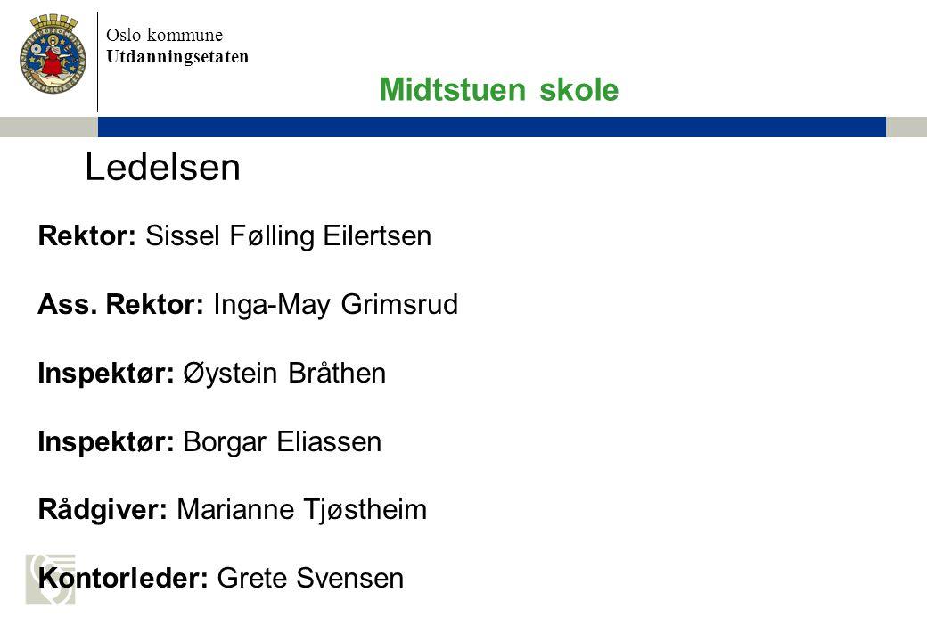 Oslo kommune Utdanningsetaten Rektor: Sissel Følling Eilertsen Ass.