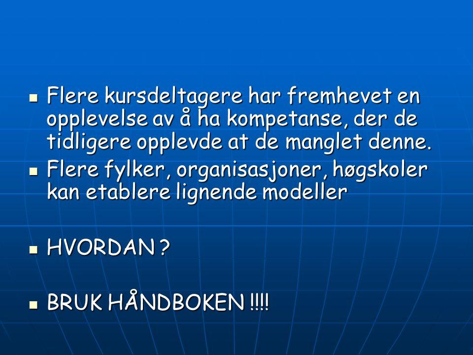 Konklusjon Hordalands-modellen bygger på å forholde seg til arbeidsplassenes egne erfaringer Hordalands-modellen bygger på å forholde seg til arbeidsp