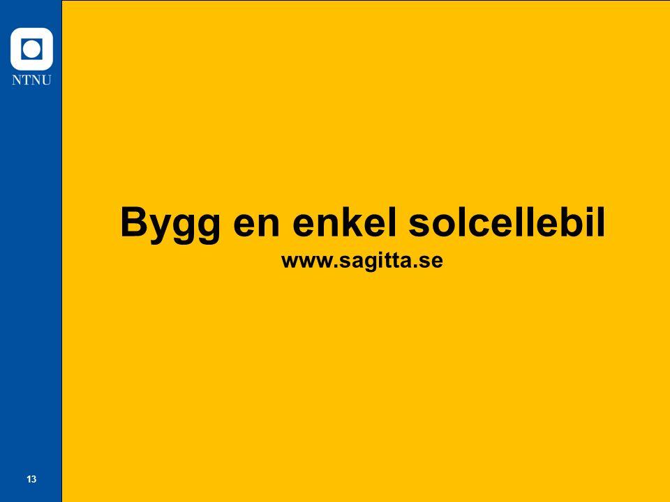 13 Bygg en enkel solcellebil www.sagitta.se