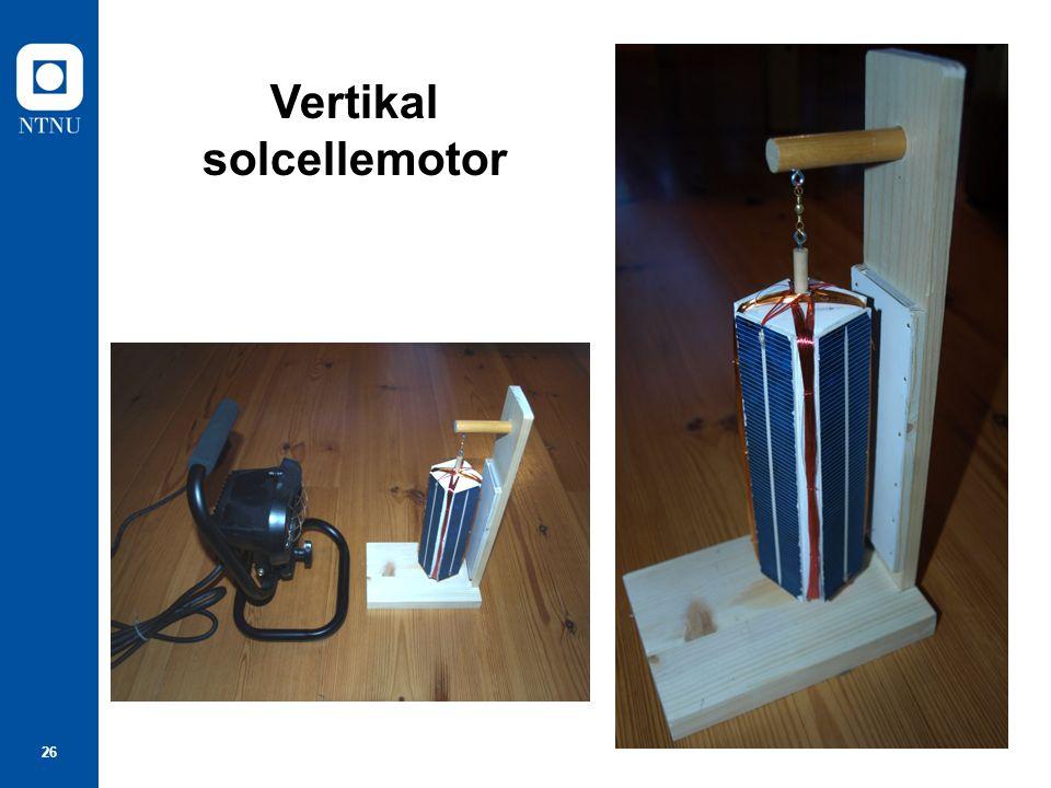26 Vertikal solcellemotor