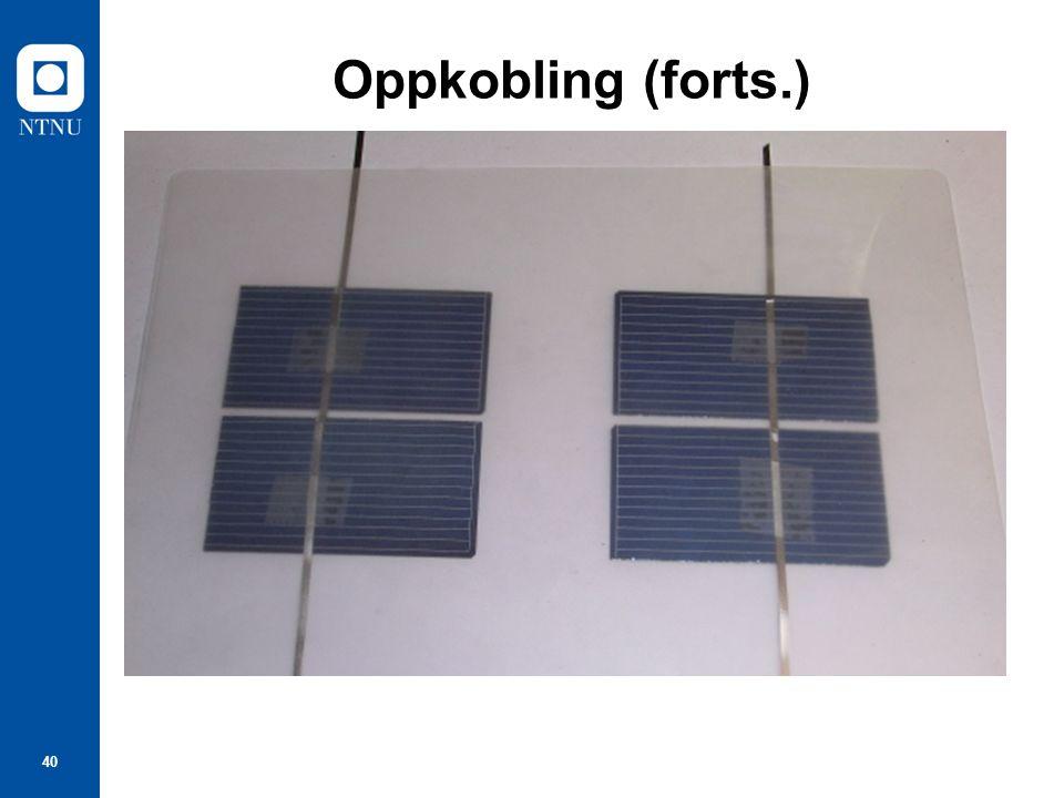 40 Oppkobling (forts.)