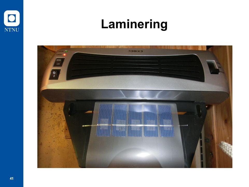 41 Laminering