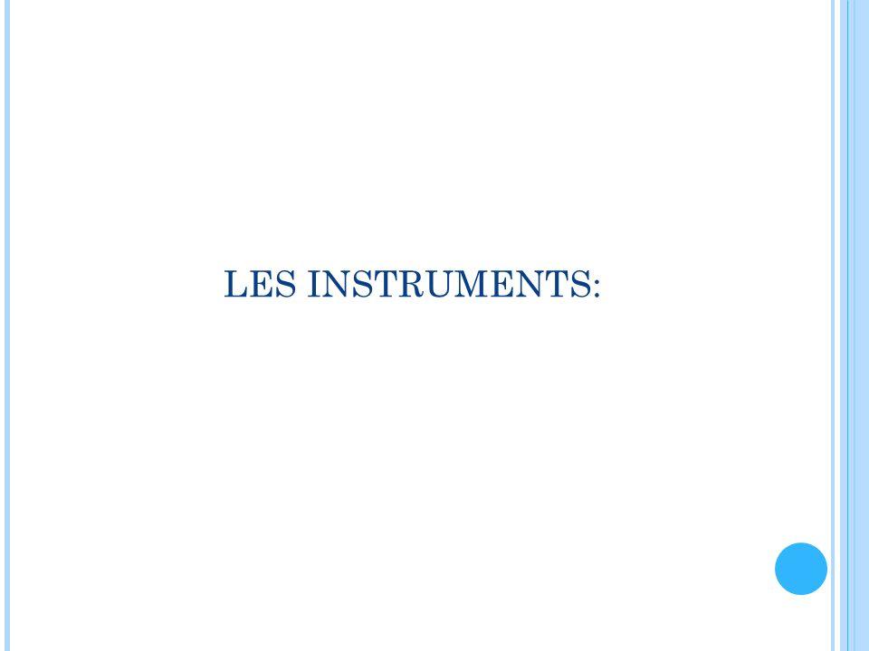 LES INSTRUMENTS: