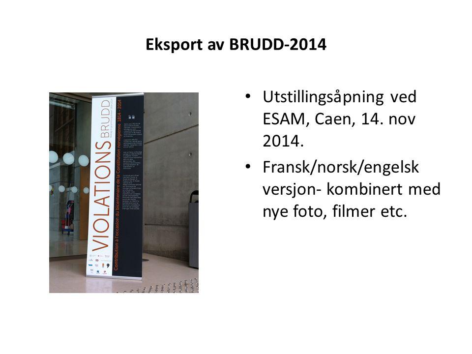 Eksport av BRUDD-2014 Utstillingsåpning ved ESAM, Caen, 14.
