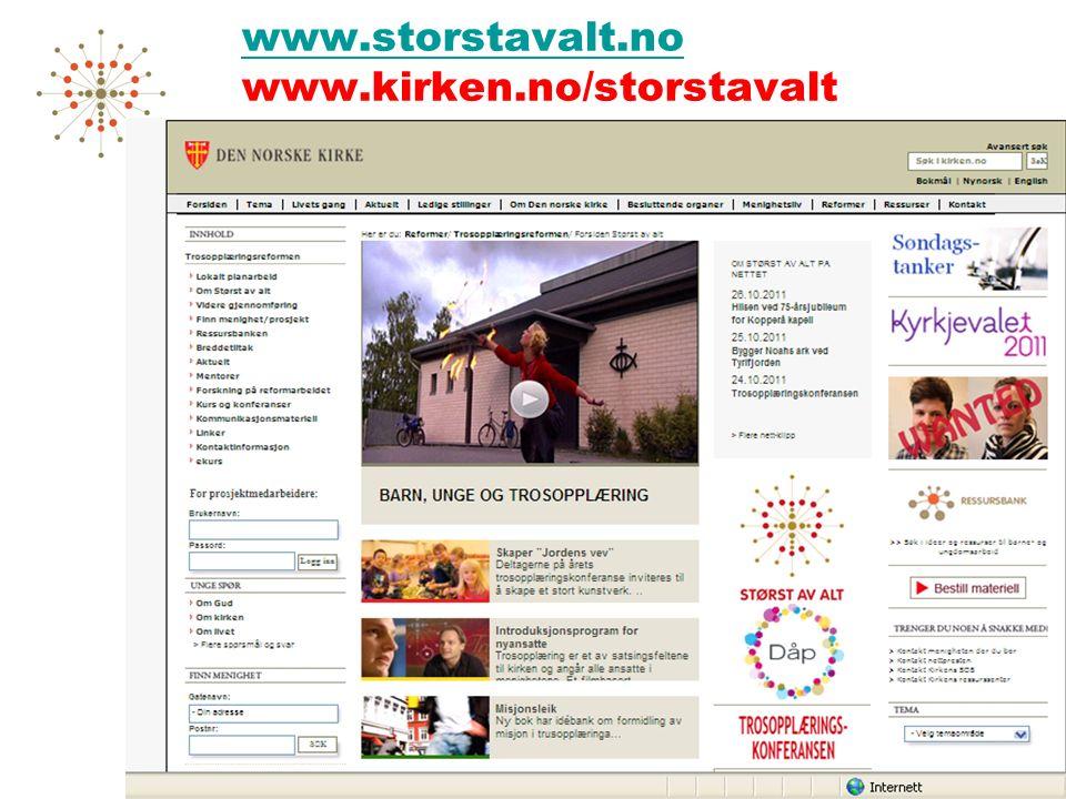 www.storstavalt.no www.storstavalt.no www.kirken.no/storstavalt