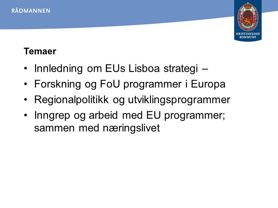 EUs reviderte Lisboastrategi !