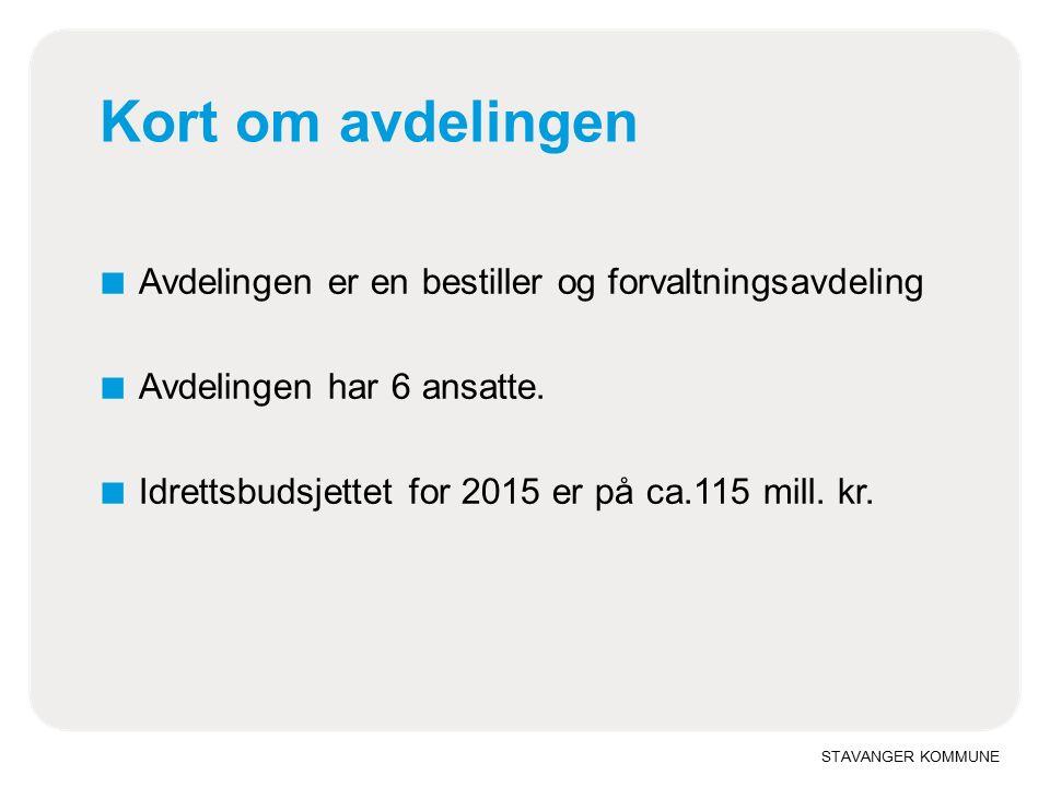 STAVANGER KOMMUNE Fagplan idrett 2014-2029