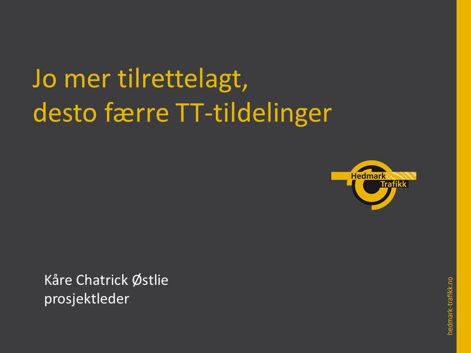 Kåre Chatrick Østlie prosjektleder Jo mer tilrettelagt, desto færre TT-tildelinger