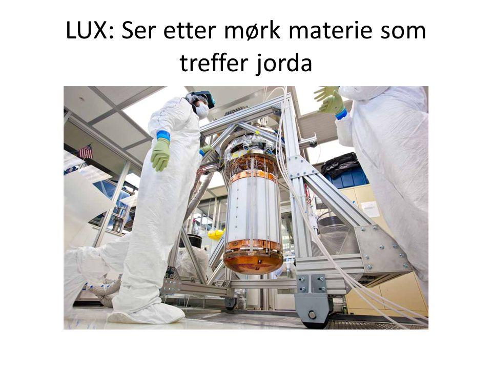 LUX: Ser etter mørk materie som treffer jorda