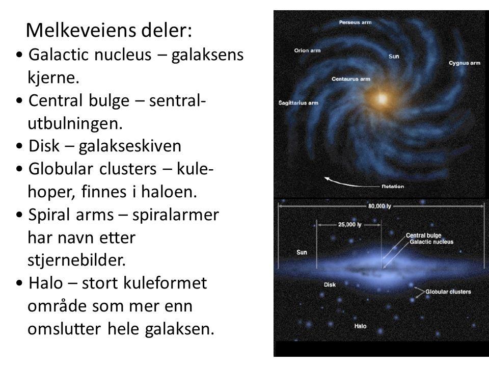 5 Melkeveiens deler: Galactic nucleus – galaksens kjerne.
