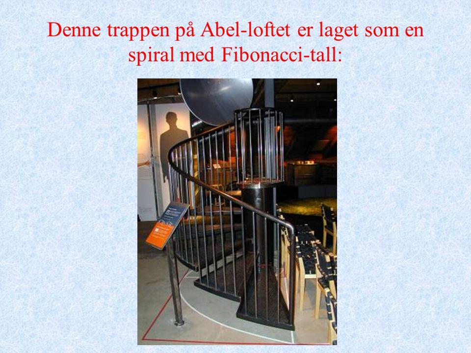 Denne trappen på Abel-loftet er laget som en spiral med Fibonacci-tall: