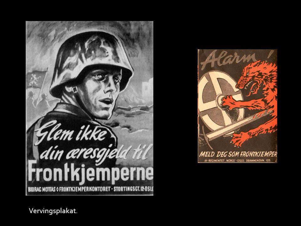 Quisling hilser på tyske frontkjempere.