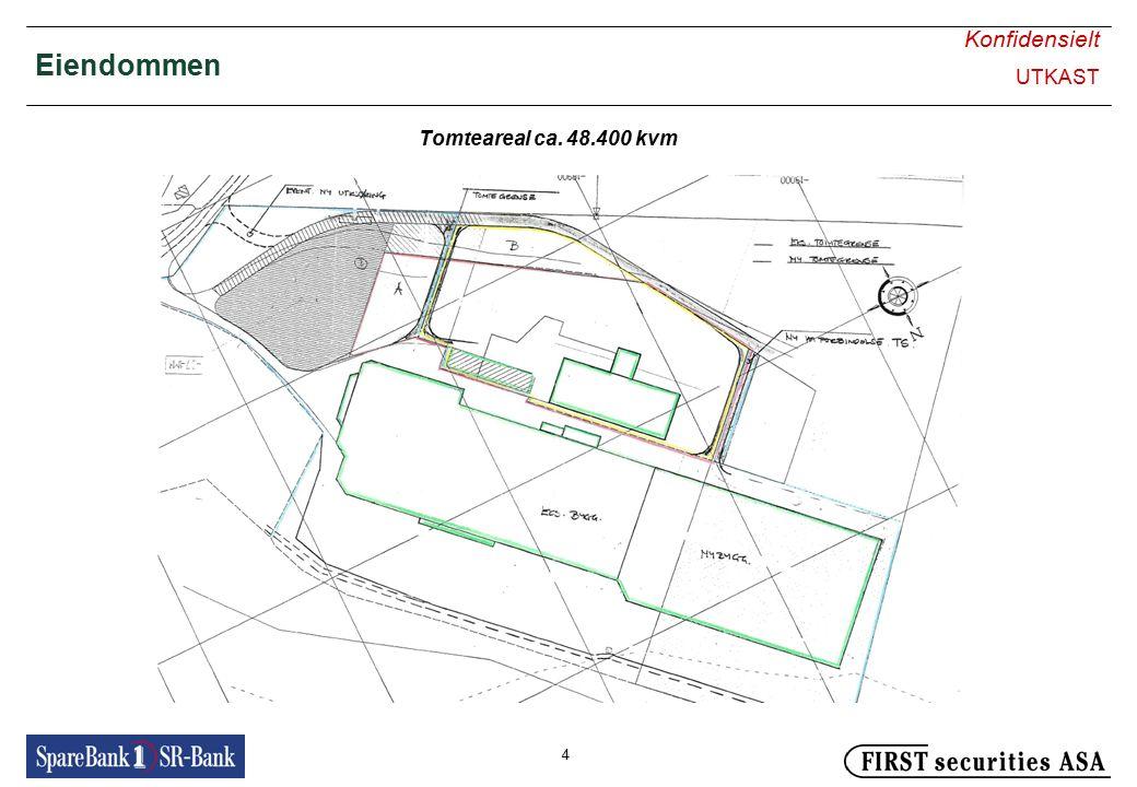 Konfidensielt UTKAST 4 Eiendommen Tomteareal ca. 48.400 kvm