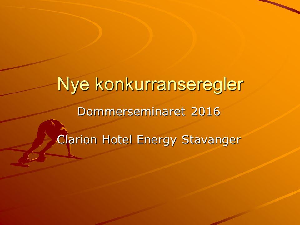 Nye konkurranseregler Dommerseminaret 2016 Clarion Hotel Energy Stavanger