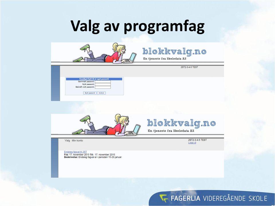 Valg av programfag