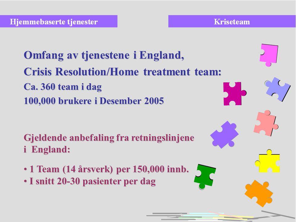 Fase 4: Halvparten av alle årsverk fra voksenpsykiatrisk avdeling i mobile team Tyngdepunktet er dagbehandling, poliklinikk og ambulante tjenester med hjemmebehandling i DPS-nivået Mer spesialiserte sykehustilbud