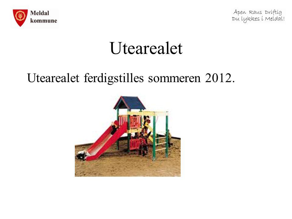 Utearealet Utearealet ferdigstilles sommeren 2012.