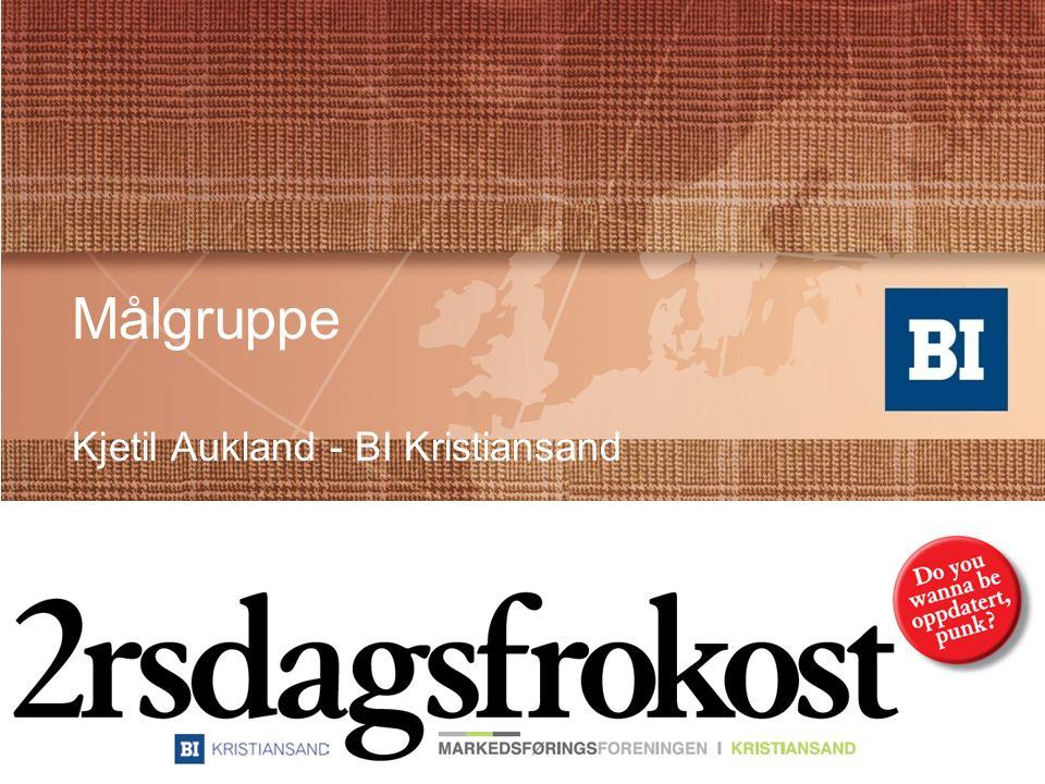 Målgruppe Kjetil Aukland - BI Kristiansand
