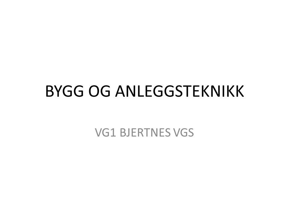 BYGG OG ANLEGGSTEKNIKK VG1 BJERTNES VGS