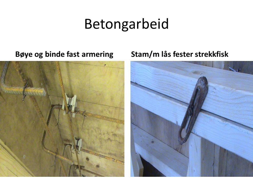 Betongarbeid Bøye og binde fast armeringStam/m lås fester strekkfisk