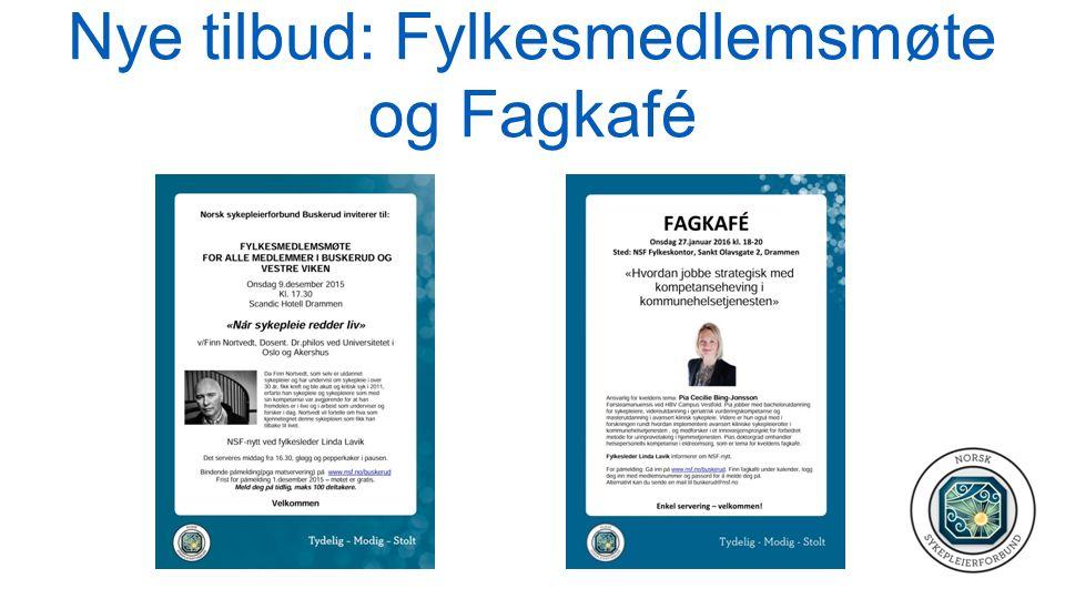 Nye tilbud: Fylkesmedlemsmøte og Fagkafé