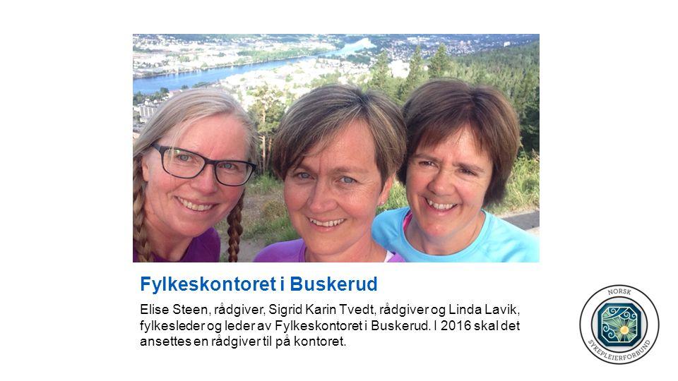 Fylkeskontoret i Buskerud Elise Steen, rådgiver, Sigrid Karin Tvedt, rådgiver og Linda Lavik, fylkesleder og leder av Fylkeskontoret i Buskerud.