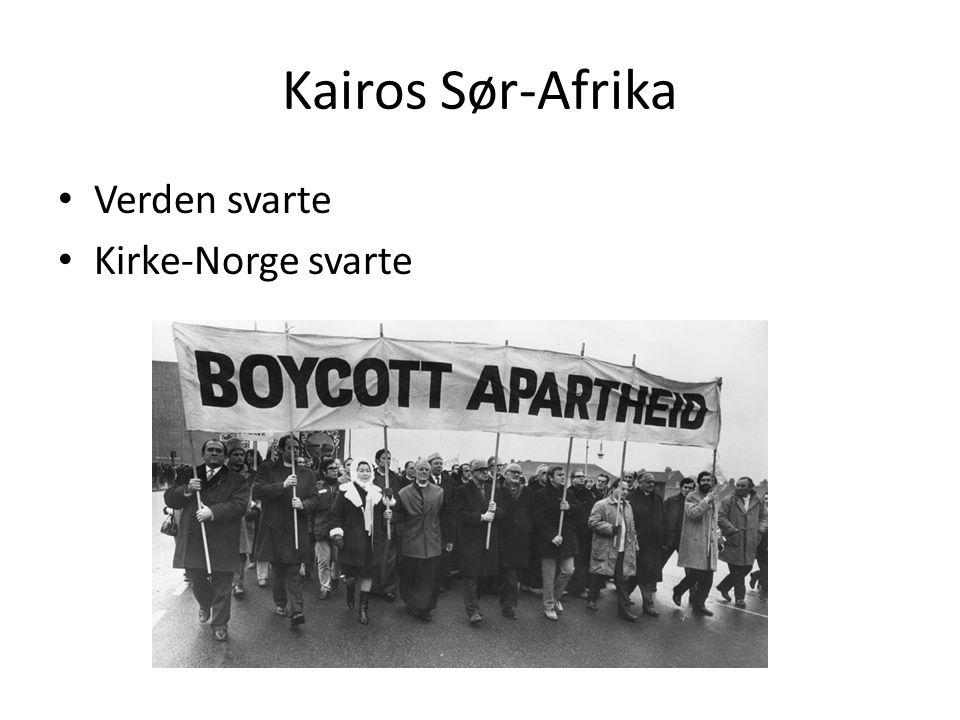 Kairos Sør-Afrika Verden svarte Kirke-Norge svarte