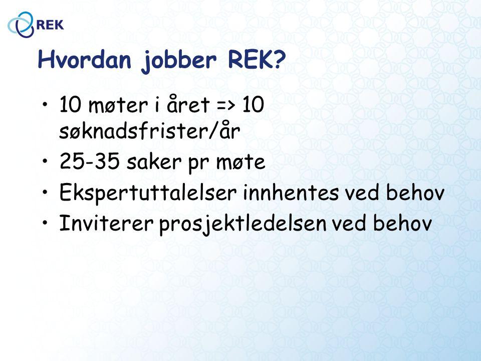 Hvordan jobber REK.