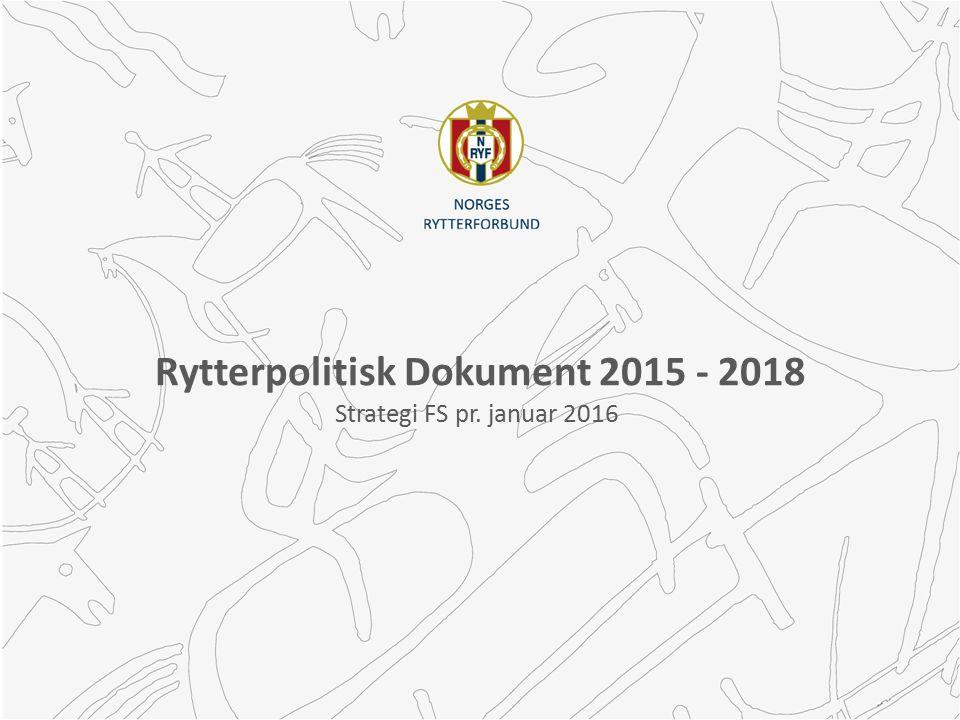 Rytterpolitisk Dokument 2015 - 2018 Strategi FS pr. januar 2016