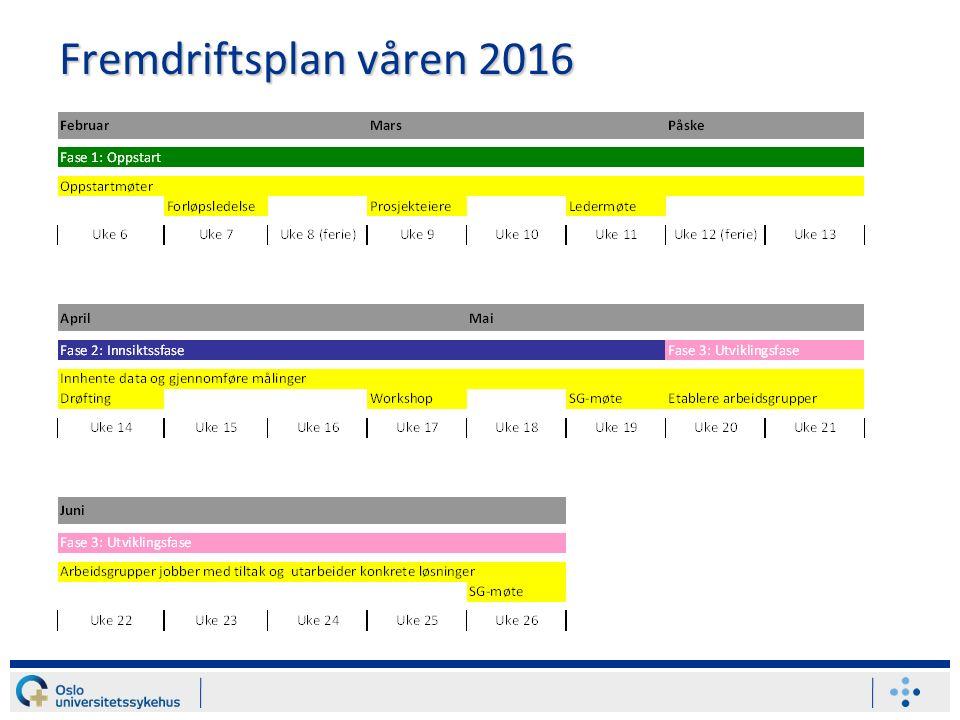 Fremdriftsplan våren 2016