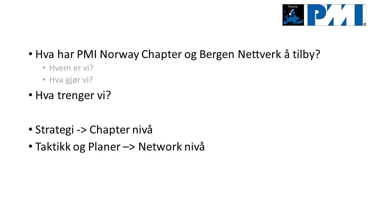 Hva har PMI Norway Chapter og Bergen Nettverk å tilby.