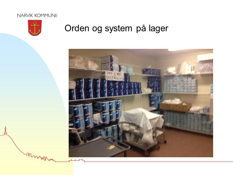 Orden og system på lager