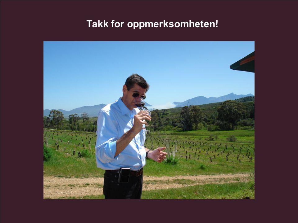 www.vinmonopolet.no Takk for oppmerksomheten!